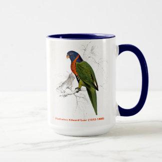 Edward Lear Bird Scarlet Collared Parakeet Mug