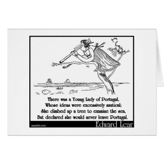 Edward Lear s Young Lady of Portugal Limerick Cards