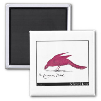 Edward Lear's Crimson Bird Magnet