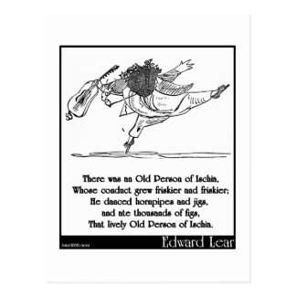 Edward Lear's Old Person of Ischia Limerick Postcard
