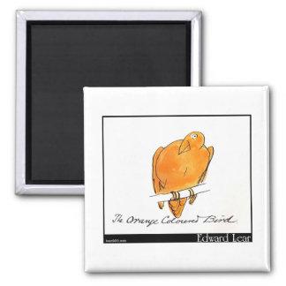 Edward Lear's Orange-Coloured Bird Magnet