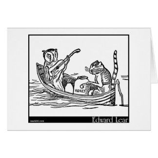 Edward Lear's The Owl and the Pussy-Cat Card