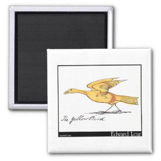 Edward Lear's Yellow Bird Magnet