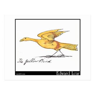 Edward Lear's Yellow Bird Postcard