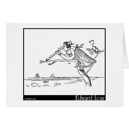 Edward Lear's Young Lady of Portugal Image Greeting Cards