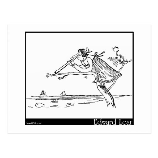 Edward Lear's Young Lady of Portugal Image Post Cards