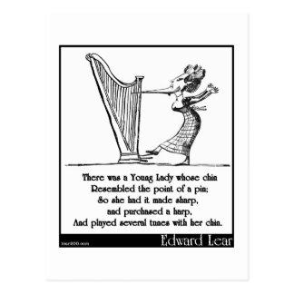 Edward Lear's Young Lady whose chin Limerick Postcard
