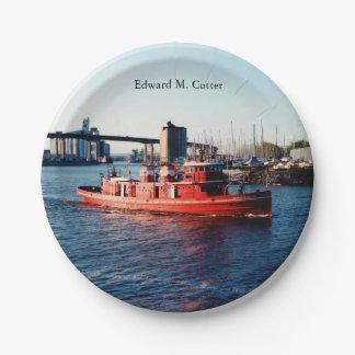 Edward M. Cotter paper plate