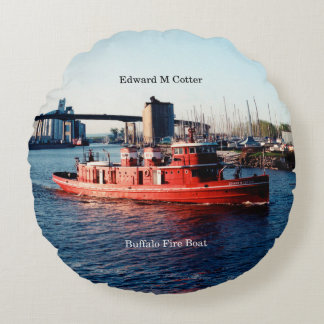 Edward M. Cotter round pillow