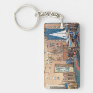 Edward Petrovich Interiors of the Small Hermitage Double-Sided Rectangular Acrylic Keychain