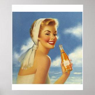 Edward Runci soft drink ad. Poster