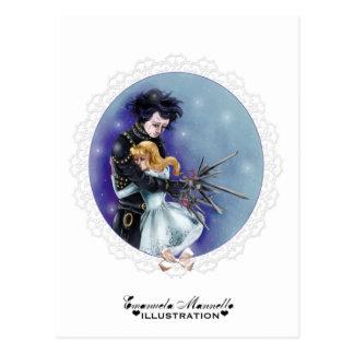 Edward scissorhands postcard