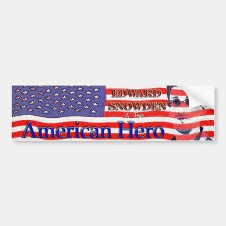 Edward Snowden - a true American Hero Bumper Sticker
