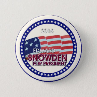Edward Snowden for President 2016 2 Inch Round Button