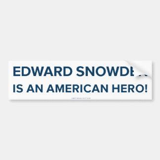 Edward Snowden Hero  Bumper Sticker