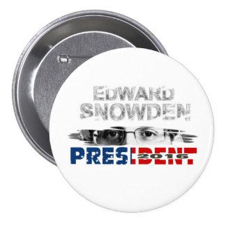 Edward Snowden President 2016 3 Inch Round Button