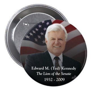 Edward (Ted) Kennedy Memorabilia 3 Inch Round Button