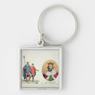 Edward the Confessor and King Alfred, plate 7 from Silver-Colored Square Keychain