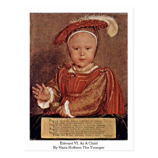 Edward Vi. As A Child By Hans Holbein The Younger Postcard
