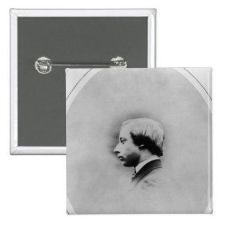 Edward VII, 1860 2 Inch Square Button