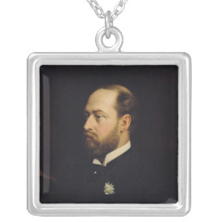 Edward VII Silver Plated Necklace
