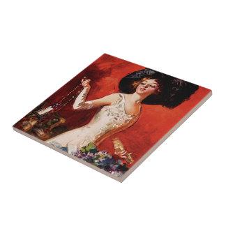 Edwardian Glamor Girl Tile