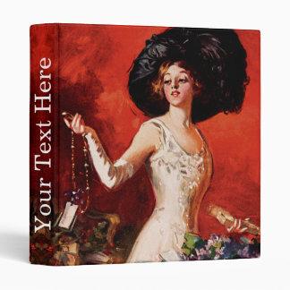Edwardian Glamor Girl Vinyl Binder