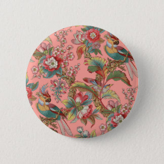 Edwardian Parrot ~ Duchess 2 Inch Round Button
