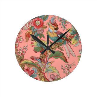 Edwardian Parrot ~ Duchess Round Clock
