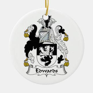 Edwards Family Crest Ceramic Ornament