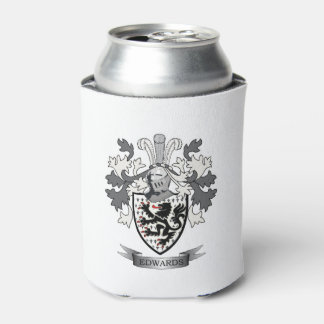 Edwards Family Crest Coat of Arms Can Cooler