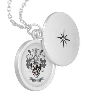 Edwards Family Crest Coat of Arms Locket Necklace