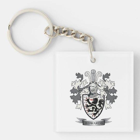 Edwards Family Crest Coat of Arms Single-Sided Square Acrylic Keychain