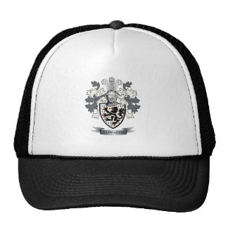 Edwards Family Crest Coat of Arms Trucker Hat