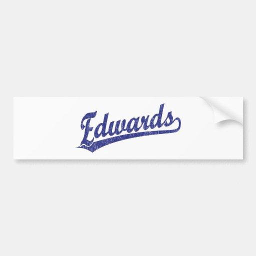 Edwards script logo in blue bumper sticker