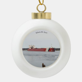Edwin H. Gott ball or snowflake ornament