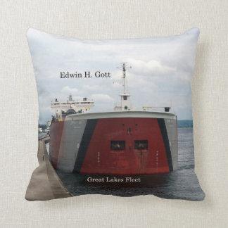 Edwin H. Gott bow square pillow
