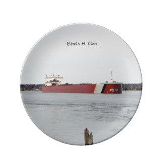Edwin H. Gott decorative plate
