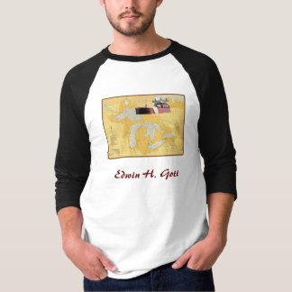 Edwin H. Gott Great Lakes Ship on chart T-Shirt