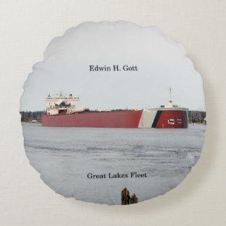 Edwin H. Gott round pillow