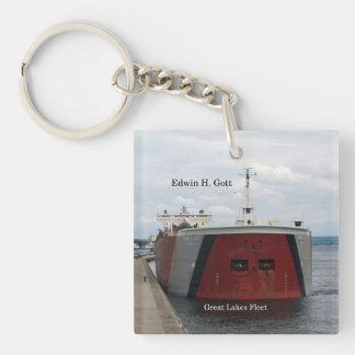 Edwin H. Gott square key chain