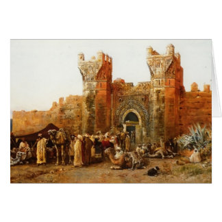 Edwin Lord Weeks- Gate of Shehal, Morocco Card