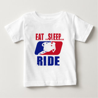 Eeat Sleep and ride Baby T-Shirt