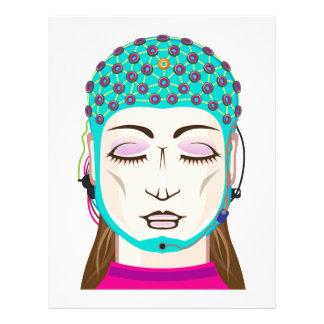 EEG device Mind reading scanning Brain signals Letterhead Template