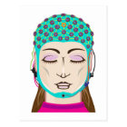 EEG device Mind reading scanning Brain signals Postcard