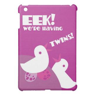 EEK we're having twins! greeting card tweeter bird iPad Mini Case