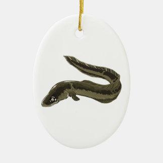 Eel Ceramic Ornament