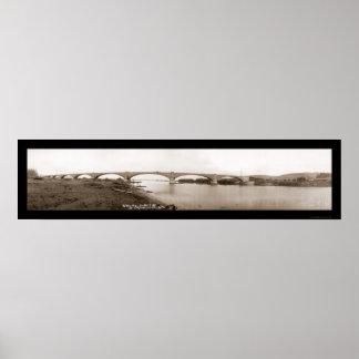 Eel River Bridge Humboldt Photo 1912 Poster