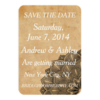 Eelgant and Rustic Vintage Look Save The Date Card
