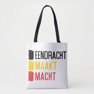 Eendracht Maakt Macht Bag, Belgian Motto Tote Bag